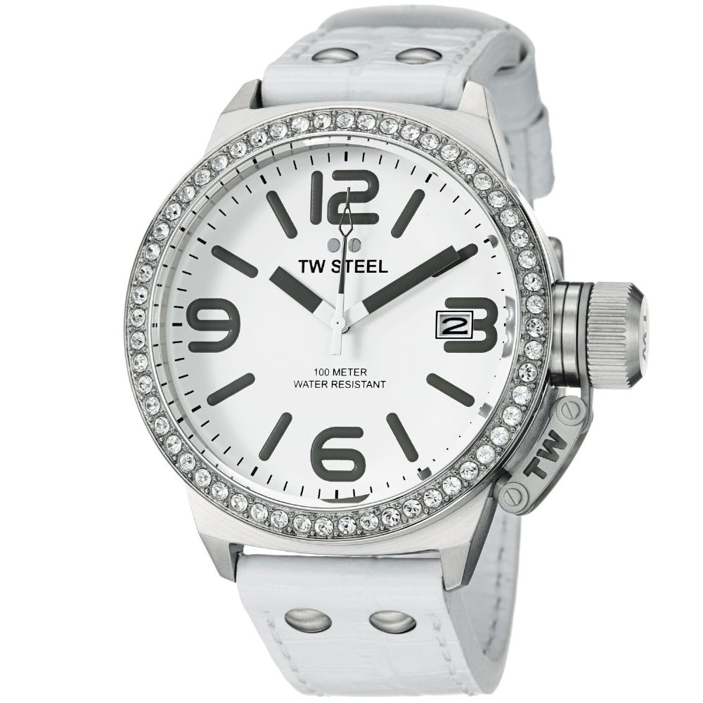 TW STEEL Canteen 45mm Swarovski Watch TW35